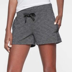 Athleta Metro Downtown Short In Heather Gray Large